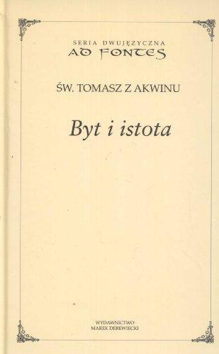 Byt i istota (Hardback): Tomasz z Akwinu