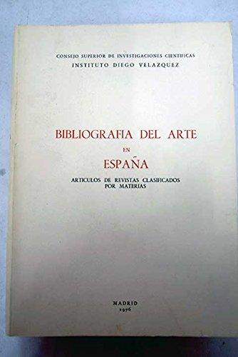 BIBLIOGRAFIA DEL ARTE EN ESPAÑA. Tomo I.: Mari Paz Aguiló,