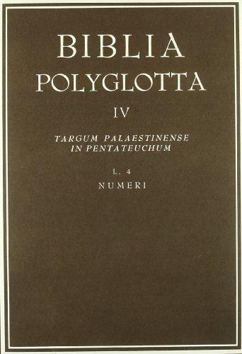 9788400036645: Biblia poliglota matritensia. serie IV. targum...l.4. numeri