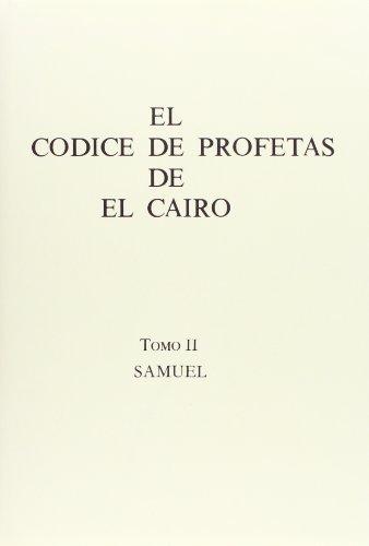 9788400053833: El codice de profetas de el cairo,2. Samuel