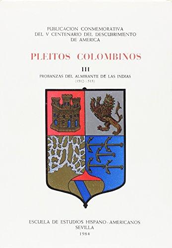 9788400057985: Pleitos colombinos. tomo 3 (1984)