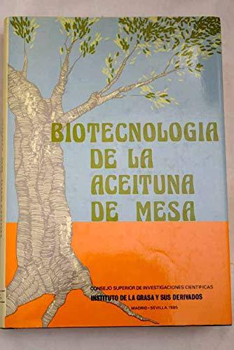9788400060183: Biotecnologia de la aceituna de mesa