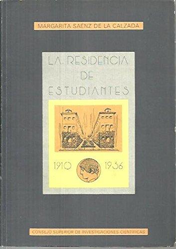 9788400062583: La Residencia de Estudiantes 1910-1936 (Textos Residencia)