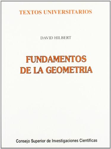 9788400071141: Fundamentos de la geometría (Textos Universitarios)