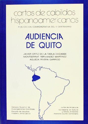 CARTAS DE CABILDOS HISPANOAMERICANOS. Audiencia de Quito.: ORTIZ DE LA