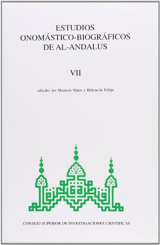 Estudios onomástico biográficos de Al Andalus T.VII.: Manuela Marín Niño,