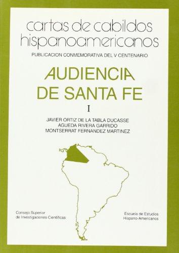 9788400075965: Cartas de Cabildos Hispanoamericanos Audiencia de Santa Fe. Tomo I, Santa Fe de Bogotá (siglos XVI-XIX)