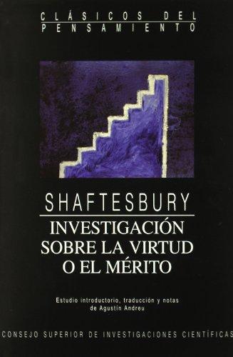 9788400076894: Investigación sobre la virtud o el mérito (Clásicos del Pensamiento)