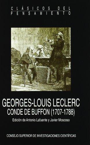9788400078041: Georges-Louis Leclerc Conde de Buffon, 1707-1788