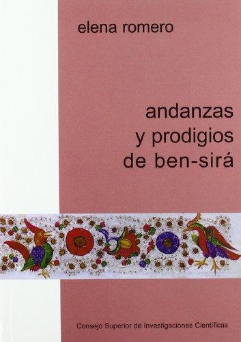9788400079178: andanzas_y_prodigios_de_ben_sira