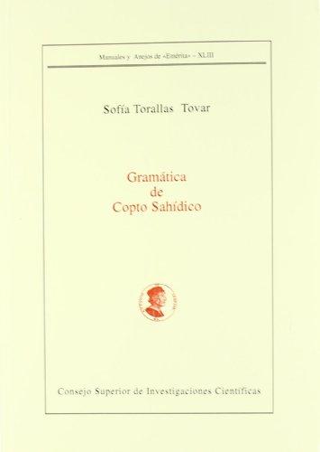 Gramática de copto sahídico: Torallas Tovar, Sofía