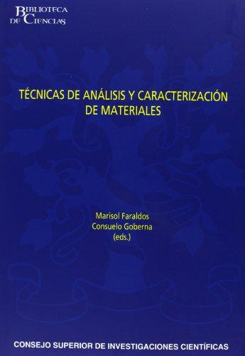 9788400080938: Técnicas de análisis y caracterización de materiales (Biblioteca de Ciencias)