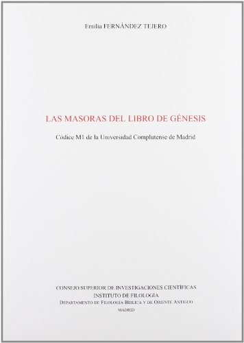 9788400082406: Las Masoras de Libro de GŽnesis: C—dice M1 de la Universidad Complutense de Madrid