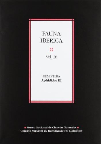 Fauna ibérica. Vol. 28. Hemiptera: Aphididae III: Juan Manuel Nieto