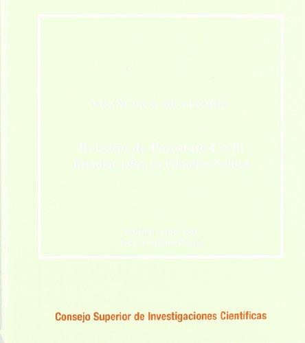 9788400086268: Relectio de potestate civili: Estudios sobre su filosofía política (Corpus Hispanorum de Pace)