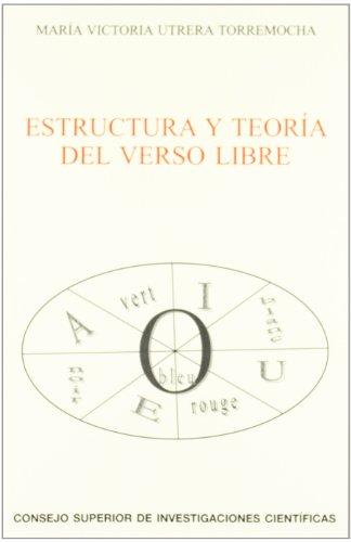 9788400090401: Estructura y Teoria del Verso Libre