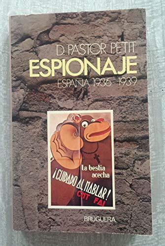 9788402050908: ESPIONAJE (España 1936-1939)