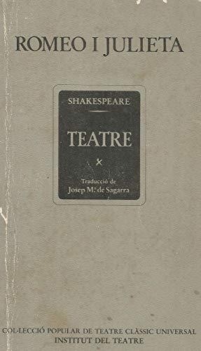 9788402066992: Romeo i Julieta (Col·leccio popular de teatre classic universal) (Catalan Edition)