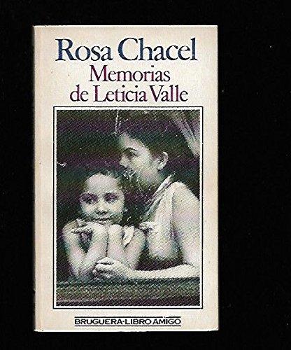 Memorias de Leticia Valle (Libro amigo) (Spanish Edition): Chacel, Rosa
