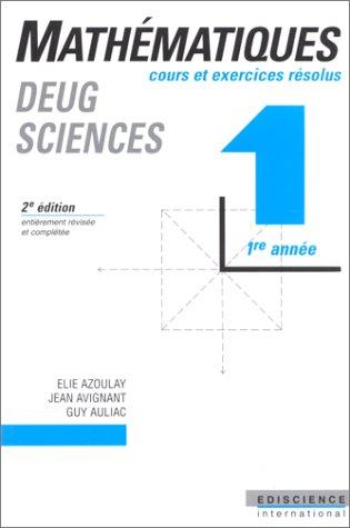 9788407413777: Mathématique DEUG de sciences, tome 1. cours et exercices,