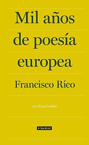 9788408009870: Mil años de poesía europea (BackList Selectos)