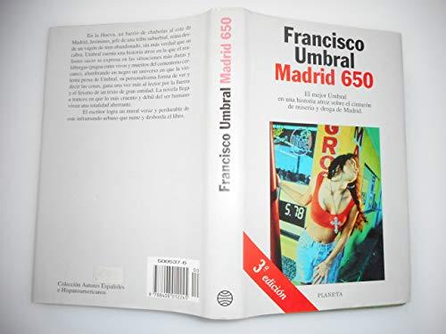 9788408012245: Madrid 650 (Colección Autores españoles e hispanoamericanos)