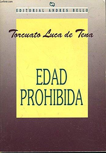 9788408020325: Edad prohibida (booket)