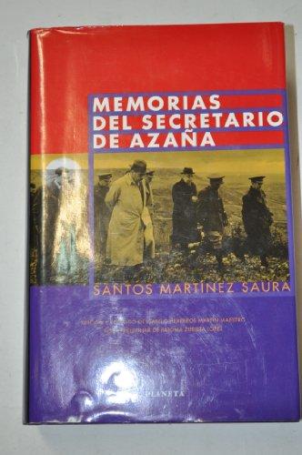 9788408032175: Memorias del secretario de azaña