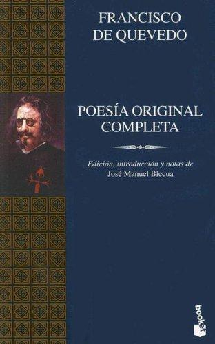 9788408055792: Poesia Original Completa/ Complete Original Poetry (Grandes Obras Clasicas) (Spanish Edition)