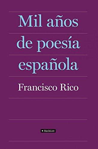 9788408087403: Mil años de poesía española