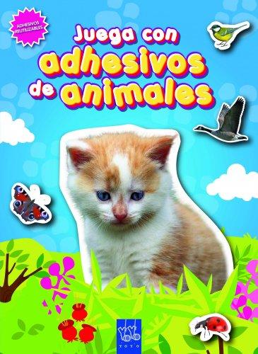 9788408090076: Juega con adhesivos de animales (azul)