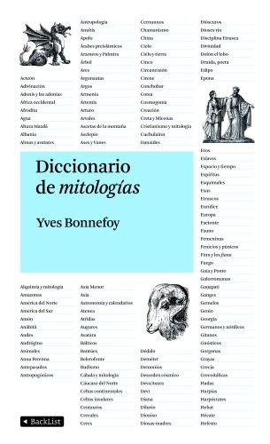 Diccionario de mitologías (9788408092681) by YVES BONNEFOY