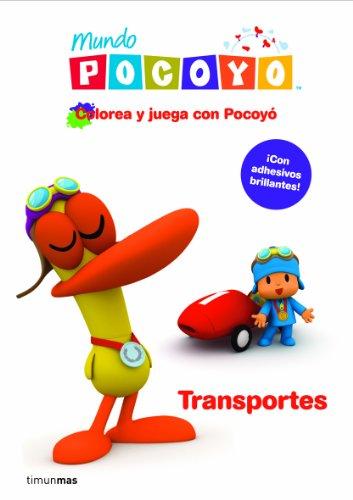 9788408099154: Colorea y juega con Pocoyó. Transportes: Libro de actividades con adhesivos (Cuentos y actividades)