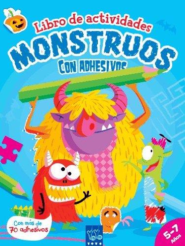 9788408122791: Monstruos: Libro de actividades con adhesivos y escenarios desplegables