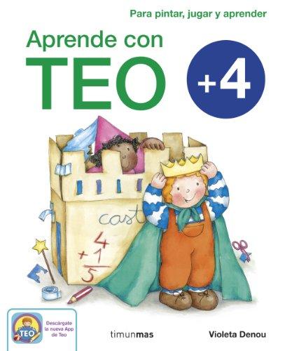 9788408125426: Aprende con Teo + 4: Para pintar, jugar y aprender