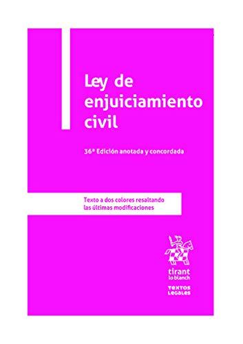 9788413555973: Ley De Enjuiciamiento Civil 36ª edición anotada y Concordada 2020 (Textos Legales)