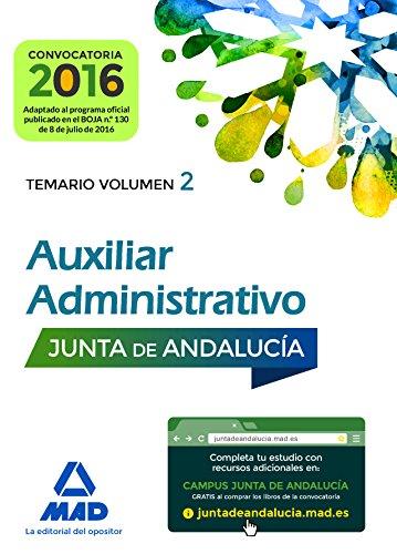 9788414200018: Auxiliares Administrativos de la Junta de Andalucía. Temario Volumen 2