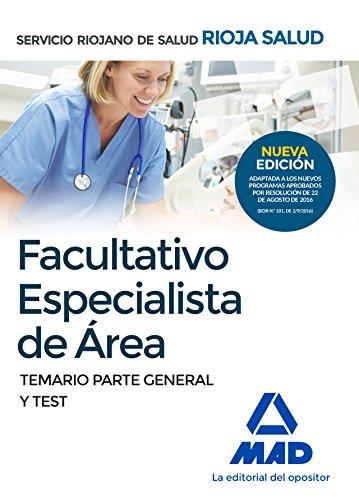 9788414200735: Facultativos Especialistas de Área del Servicio Riojano de Salud. Temario parte General y Test