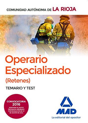 9788414200889: Operarios Especializados (Retenes) de la Administración General de la Comunidad Autónoma de la Rioja. Temario y Test