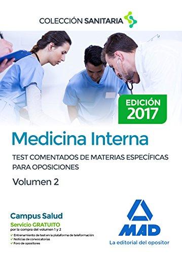 9788414206911: Medicina Interna. Test comentados de materias específicas para oposiciones. Volumen 2