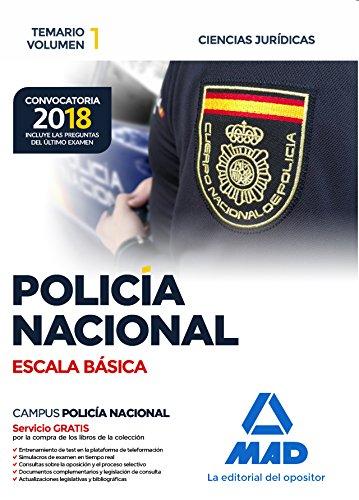 9788414214374: Policía Nacional Escala Básica. Temario volumen 1 Ciencias Jurídicas