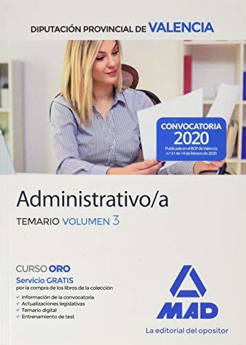 9788414235737: Administrativo/a de la Diputación Provincial de Valencia. Temario volumen 3 (Spanish Edition)