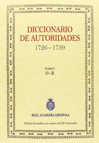 9788415131366: Diccionario De Autoridades - Volumen V