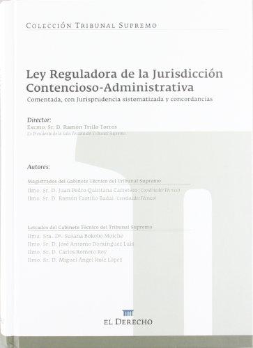 9788415145523: LEY REGULADORA DE LA JURISDICCION CONTENCIOSA ADMIN