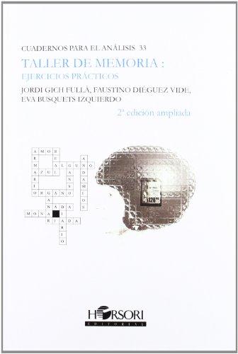 9788415212041: Taller de memoria: ejercicios prácticos (CUADERNOS PARA EL ANÁLISIS)
