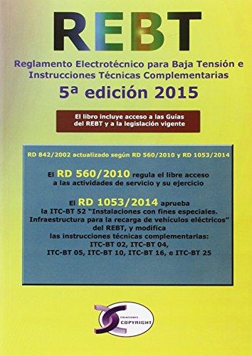 9788415270348: REGLAMENTO ELECTROTECNICO DE BAJA TENSION REBT 5ªED
