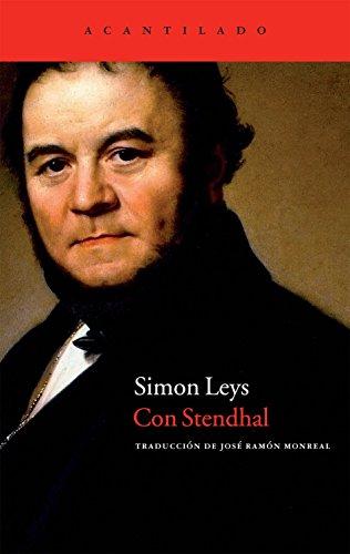 9788415277590: Con Stendhal (Cuadernos del Acantilado)