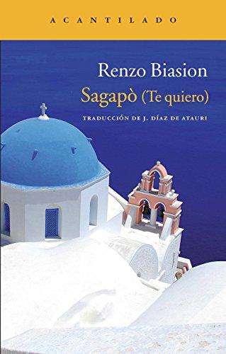 9788415277767: Sagapò (Te quiero) (Narrativa del Acantilado)