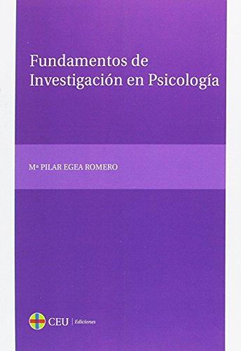 9788415382669: Fundamentos de investigación en Psicología (Textos Docentes)