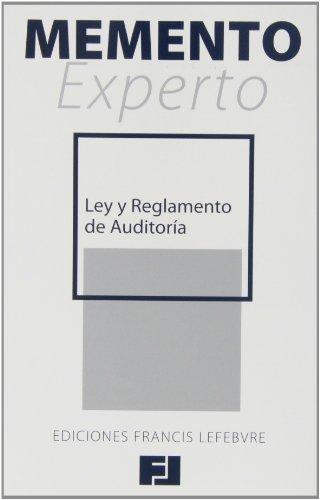 9788415446804: Memento Experto Ley y Reglamento de Auditoría